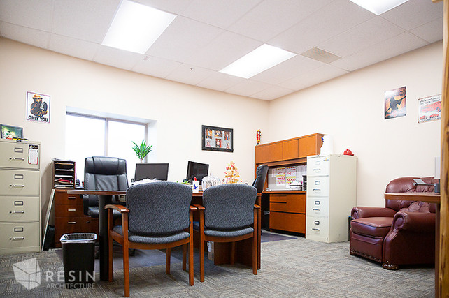 View of an office in South Summit Fire Station.