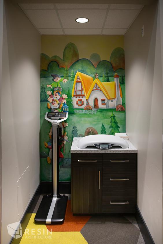 Custom mural in one of the exam rooms at Idaho Falls Pediatrics.