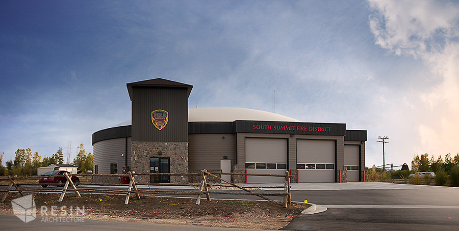 Front view of South Summit Fire Station.