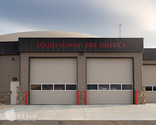 View of the front facing bay doors at South Summit Fire Station.