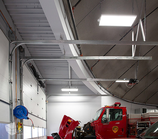 View just inside the front facing bay doors at South Summit fire Station.