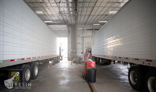 Interior shot of the semi-truck bays at Total Trailer Co. Idaho Falls.
