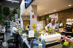 Floral Art Checkout counter