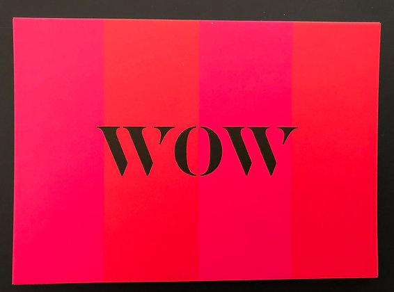 WOW - Postkarte
