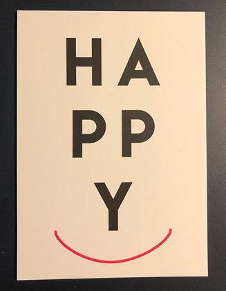 HAPPY - Hochformat - Postkarte