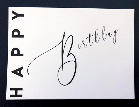 Happy Birthday - Postkarte