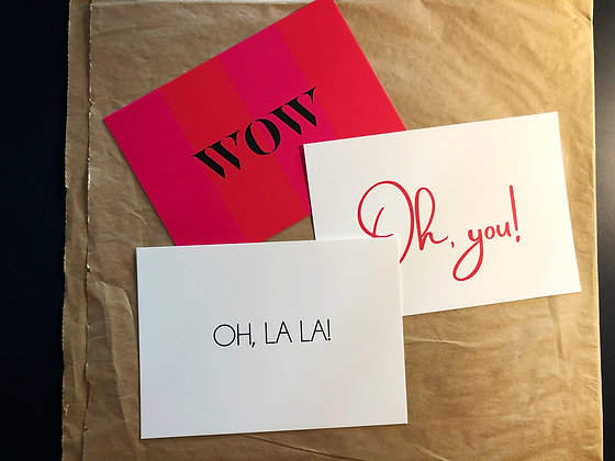 We love Fonts - Postkarten Set 3 Karten