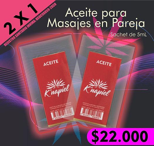 2 X 1 K´napiel Aceite para masajes en pareja  5mL