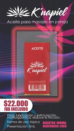 Aceite para masajes en pareja  5mL