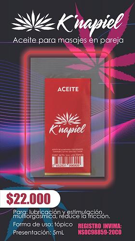 K´napiel Aceite para masajes en pareja  5mL X 6
