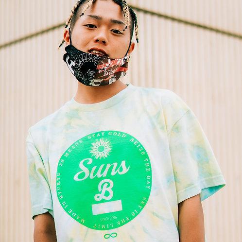 9月中旬発送予定 手染めGreen  & Yellow   SunsB Original Circle Logo T 6.2オンス SUNS B 2020