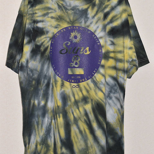 (BLACK&YELLOW BODY) Purple Circle LOGO 手染めTIE DYE T