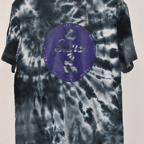 (BLACK BODY)Purple Circle LOGO 手染めTIE DYE T
