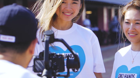 HAPPY SUNDAY〜未来へ〜 【Oki Hands Oki Hearts BLUE HEARTS T Designed by Suns B Blank PR &活動報告 movie】