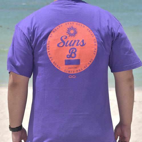 (紫×オレンジ)BASEMENT & Suns B Blank W NAMEオリジナルT shirt