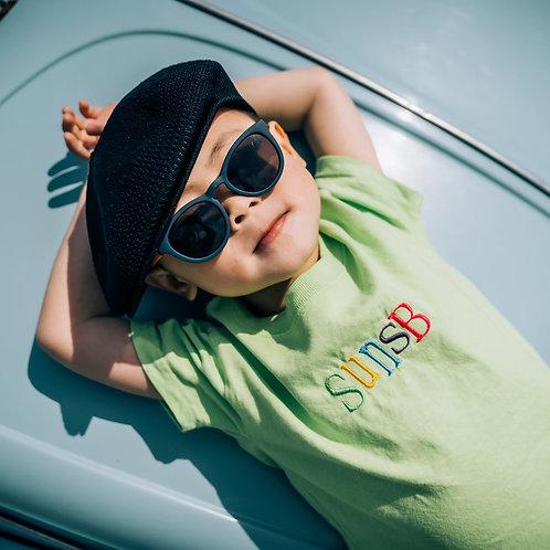 9月中旬発送予定 KIDS Short  sleeve T SunsB刺繍LOGO