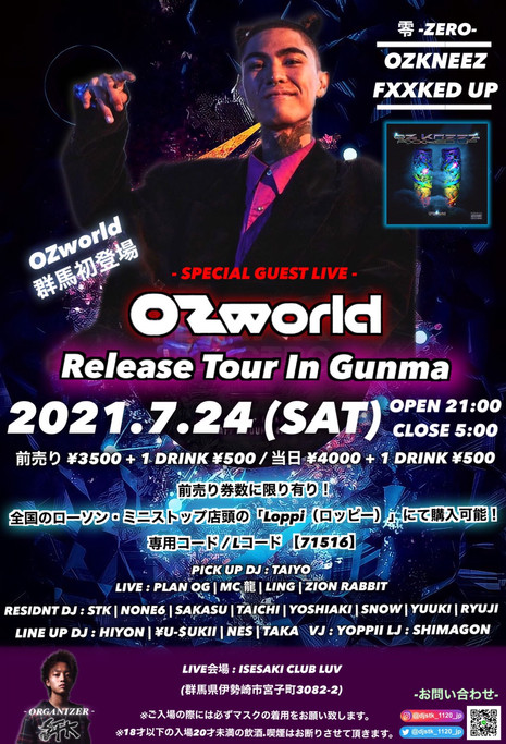 2021.07.24(SAT) OZworld Release tour in GUNMA