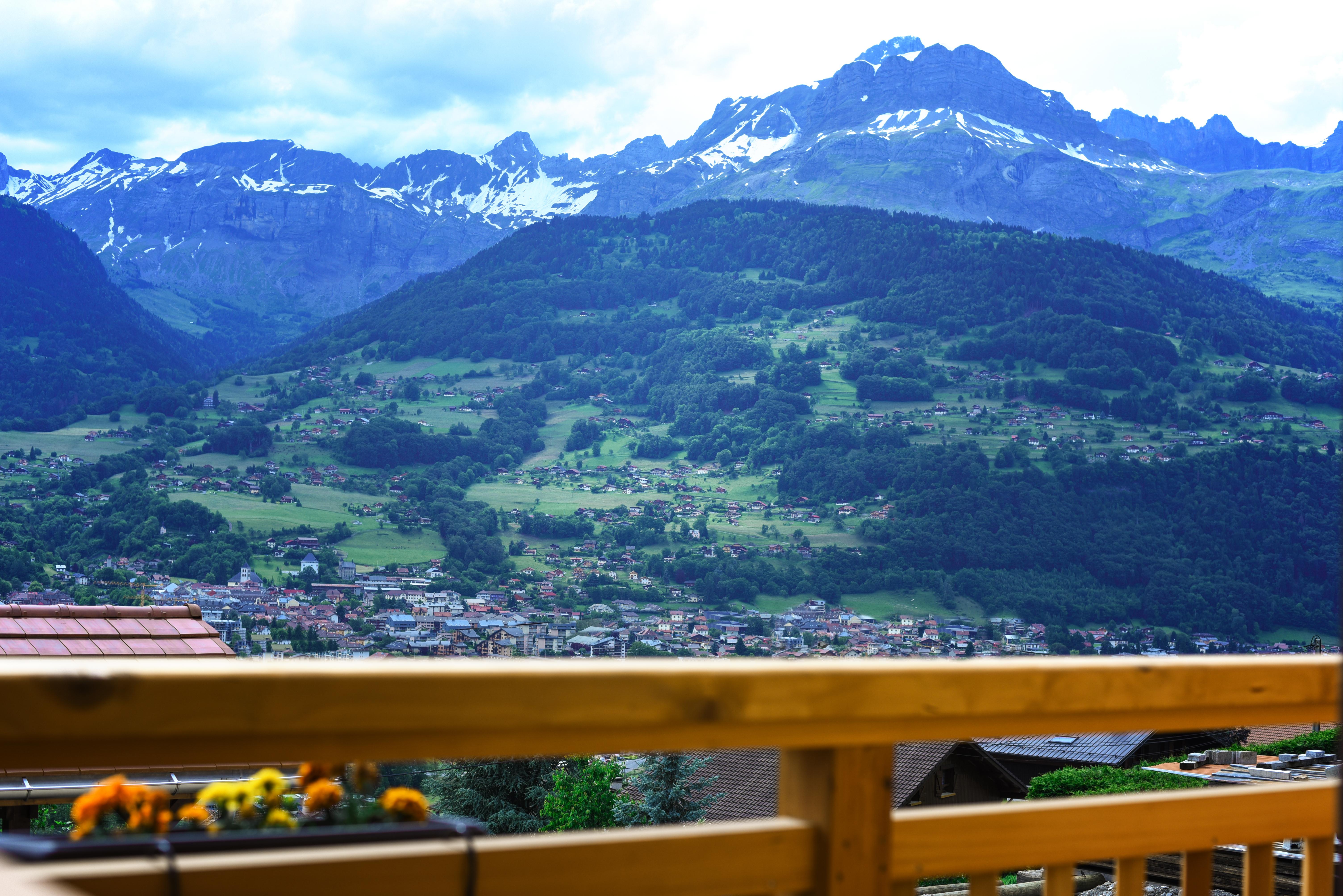 vue Aravis et Mont-Joly