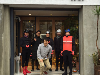 Rapha Cycle Club enjoys coffee at iki Espresso.