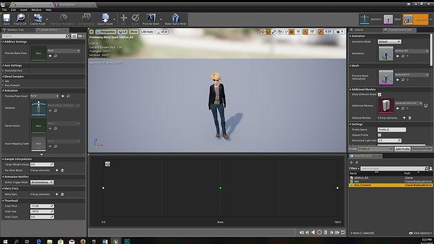 Setting Idle and Run Animations | myblueprintlab
