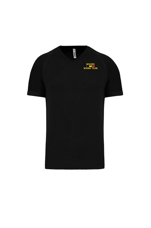 Tee-shirt noir microfibre