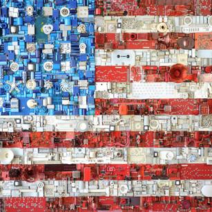 Flag (d'après Jasper John's)