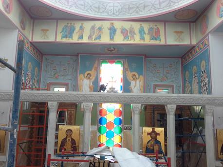 Лекция настоятеля храма иеромонаха Игнатия, посвященная РОСПИСИ ХРАМА