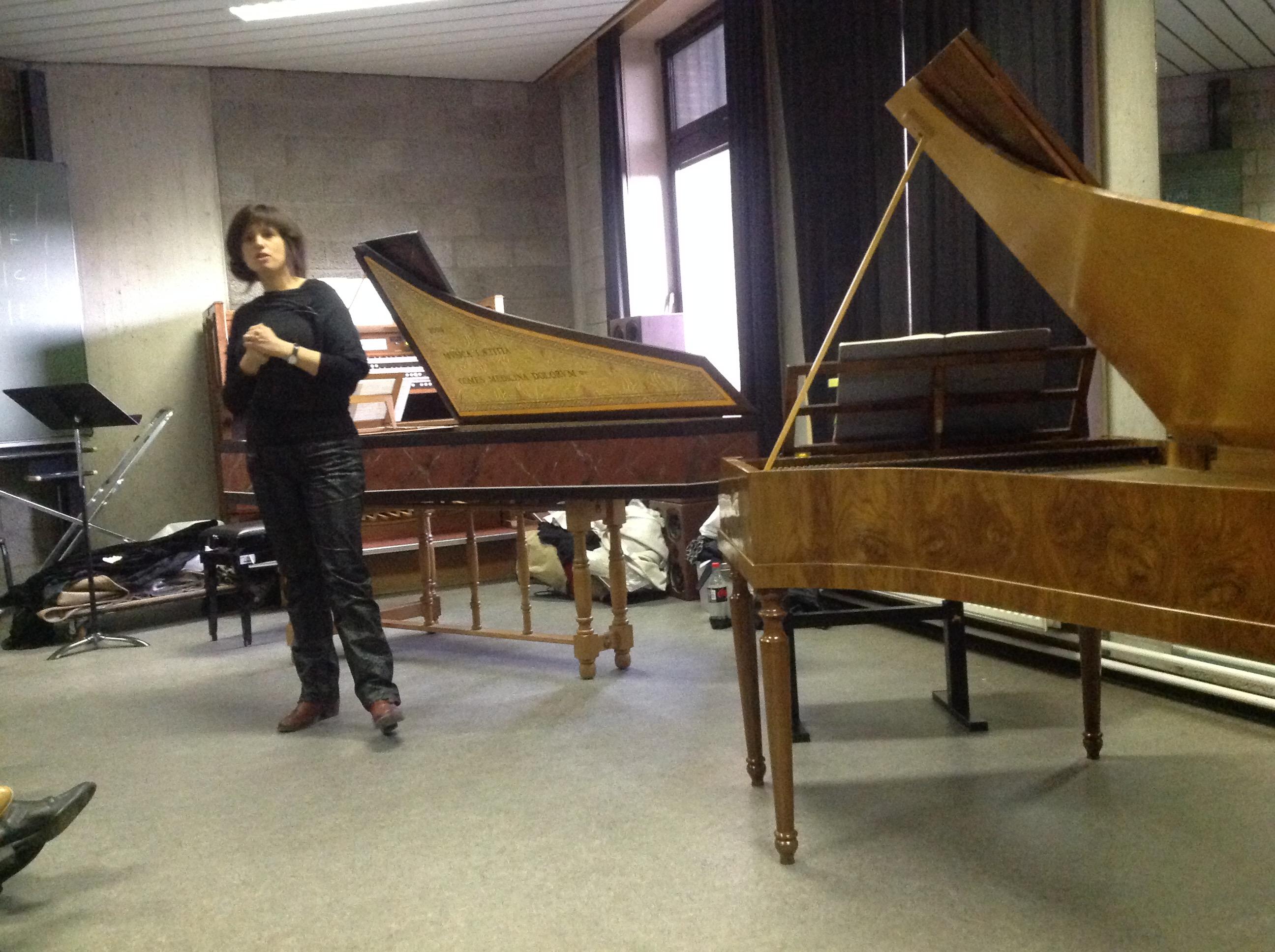 Sandra Van der Gucht, lezing klavier