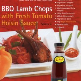 BBQ Lamb Chops with Fresh Tomato Hoisin Sauce (serves 4)