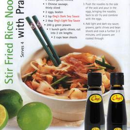 Stir Fried Rice Noodles with Prawns (serves 4)