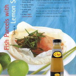 Fish Parcels with Lemon Sauce (serves 4)