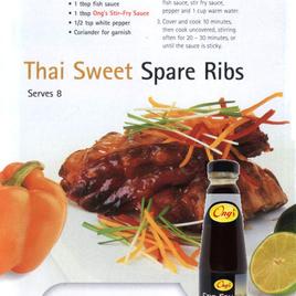 Thai Sweet Spare Ribs (serves 8)