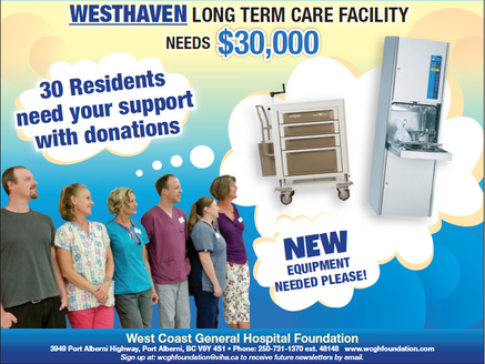WCGH Foundation now has Westhaven in its mandate