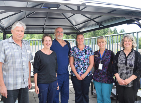 West Coast General Hospital gets an outdoor gazebo for patients, families