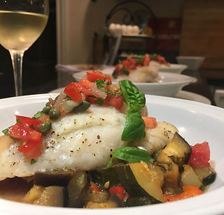 Fresh Fish over Ratatouille