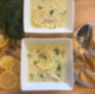 Greek Orzo Soup with Chicken and Lemon