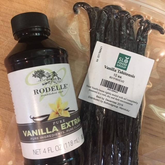 Vanilla beans versus vanilla extract