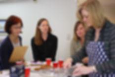 Stacie Husmann teaching a class