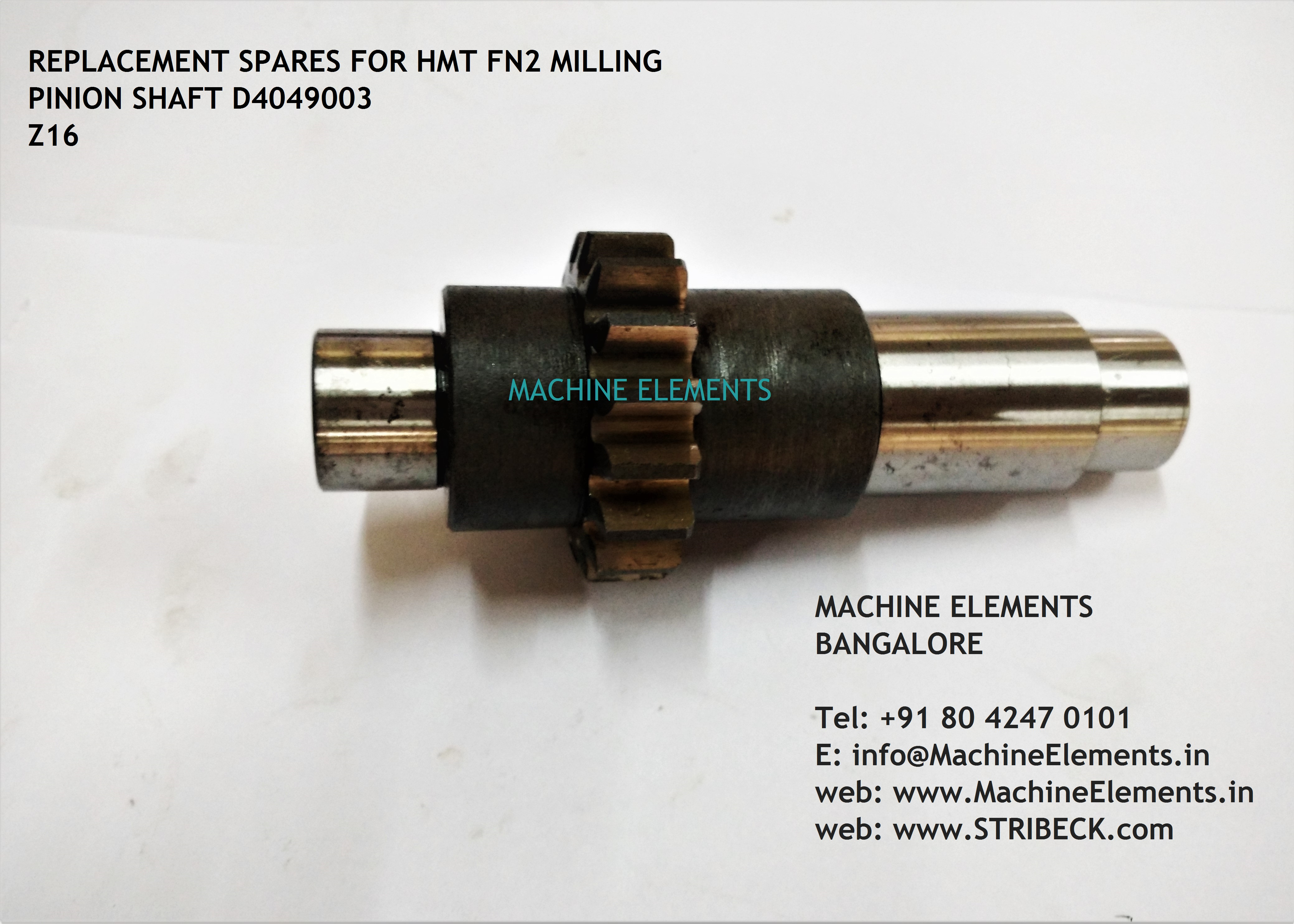 D4049003- PINION SHAFT Z16