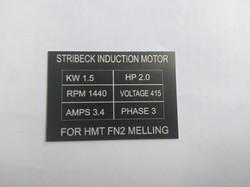 feed motor label