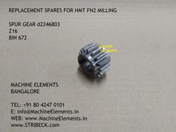 SPUR GEAR D2246803 Z16 BIN 672