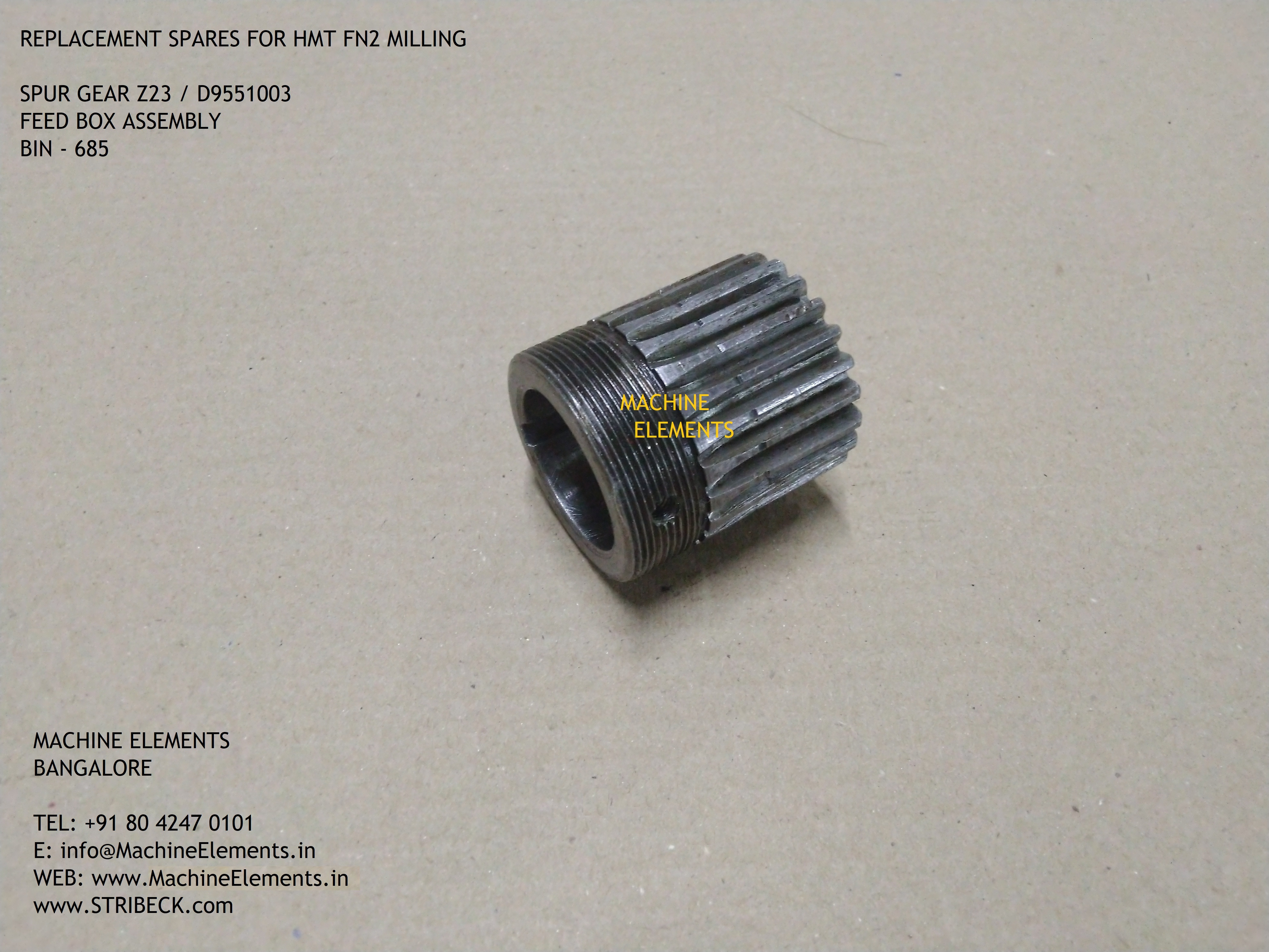 D9551003 z23  SPUR GEAR