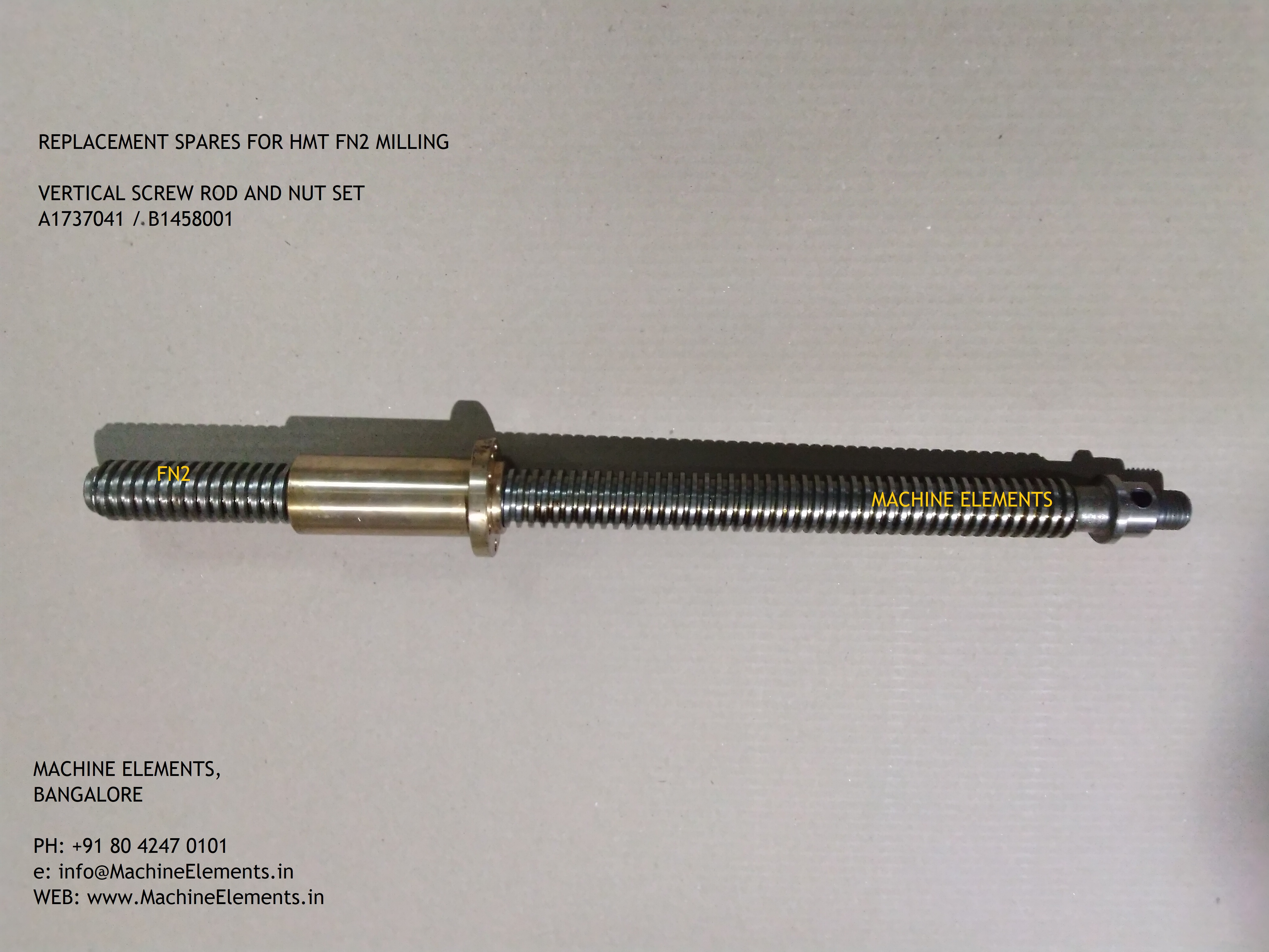 A1737041  B1458001 VERTICAL SCREW ROD AN
