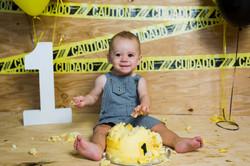 Sawyer-Cake Smash_Idaho Family Kid Photo