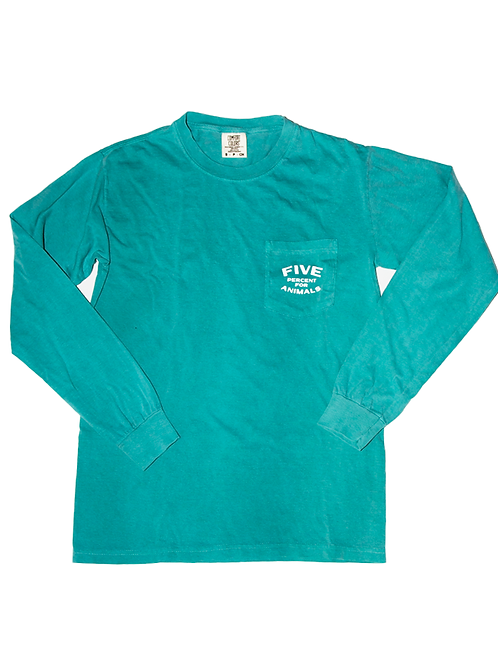 Five Percent Long Sleeve Pocket  Tee