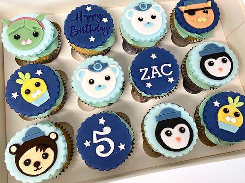 Octonauts themed cupcake box