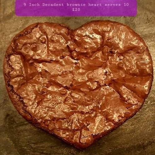 Large brownie Heart by DELIGHTFULLY DECADENT