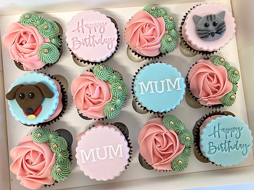 Personalised themed cupcake box