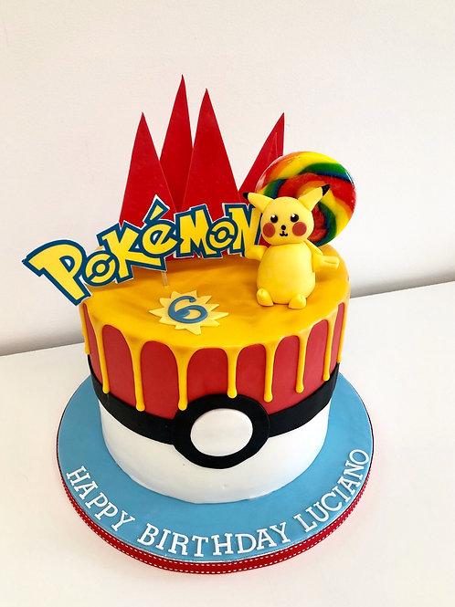 Pokemon drip cake