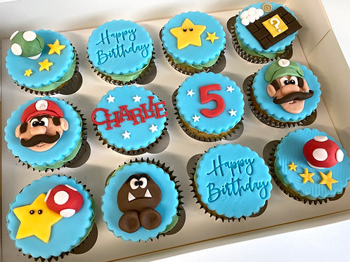 Mario themed cupcake box